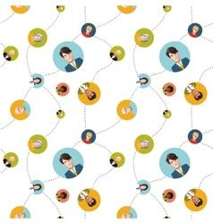 social network flat seamless pattern vector image