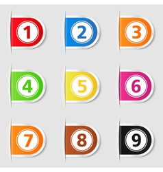 Tabs with numbers vector image
