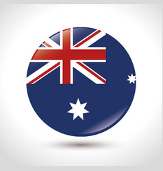 the flag of australia with union jack and stars vector image
