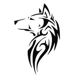 Tribal wolf head vector