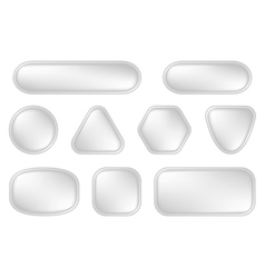 White buttons for web vector image vector image