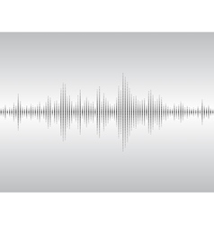 Abstract sound waves vector image vector image