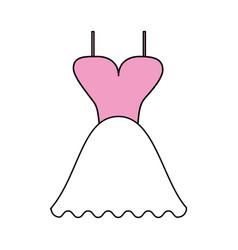 color silhouette image wedding dress fashion vector image