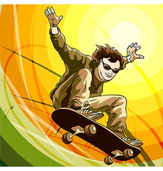 Easy skater vector image vector image