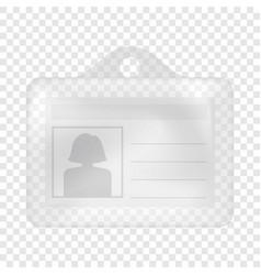 Id card mockup realistic style vector