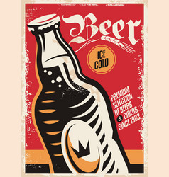 beer pub poster design vector image vector image