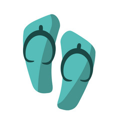 flip flop sandals beach vector image