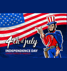 Fourth of july usa independence day greeting card vector