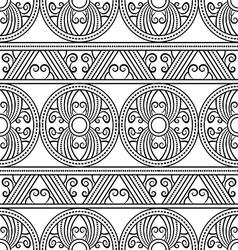 Geometric decorative ethnic pattern vector image