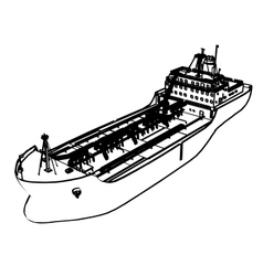 Large Tanker Ship vector image vector image