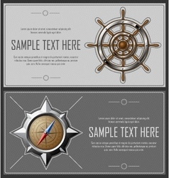 Set of grey abstract flyers vector image vector image