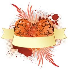 valentine heart grunge vector image