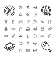 37 lunch icons vector