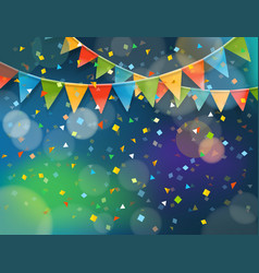 Abstract colorful background with confetti and vector