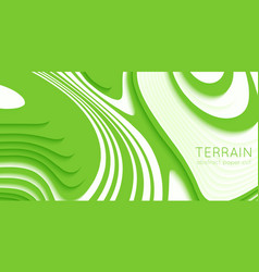 abstract green paper cut terrain paper sclices vector image