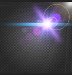Abstract shiny flare on transparent background vector