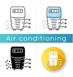 Air purifier icon vector