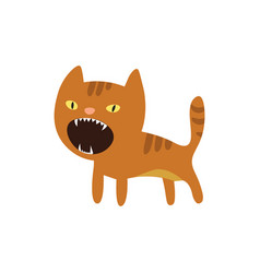 An angry cat icon vector