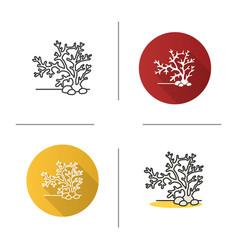 Aquarium plant icon vector