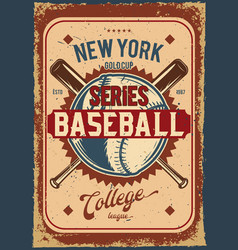 baseball ball and clubs vector image