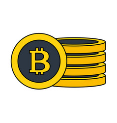 bitcoin cryptocurrency fintech digital vector image