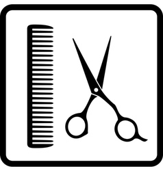 Black sign of man hair salon vector