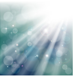 bokeh light rays background vector image