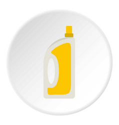 Bottle of conditioning or detergent icon circle vector
