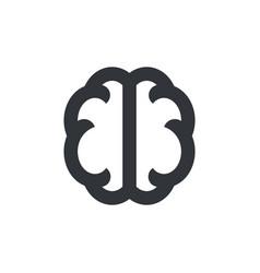 brain icon symbol pictograph isolated icon vector image