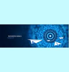 business goal solution concept paper planes flies vector image