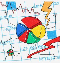 cartoon financial crisis vector image