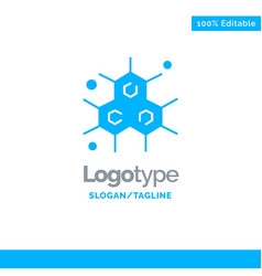 chemist molecular science blue solid logo vector image