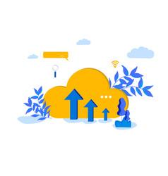 cloud computing modern vector image