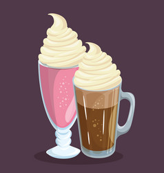 Colorful beverages design vector