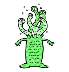 comic cartoon monster vector image