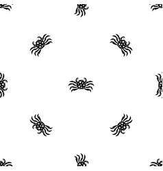 Crab sea animal pattern seamless black vector