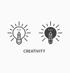 creative icon on white background vector image