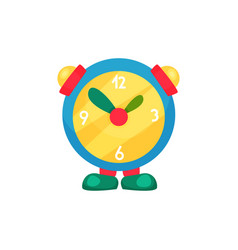 cute children s alarm clock on legs learn to tell vector image