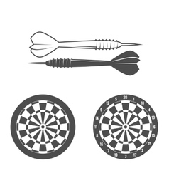 Darts label badge logo vector image