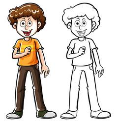 Doodle character for teenage boy vector