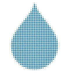 drop halftone icon vector image