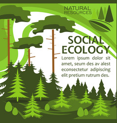 Ecology protection banner for eco lifestyle design vector