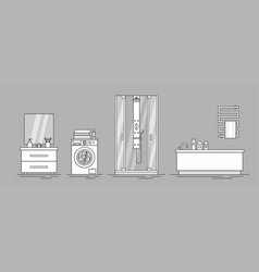 elements for bathroom interior vector image