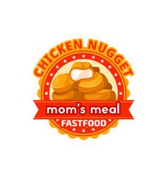 Fast food chicken nuggets restaurant icon vector