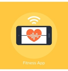 Fitness App vector image