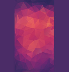 Flat retro style background of triangle shapes vector