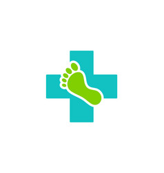 Foot medicine logo icon design vector