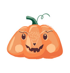 funny pumpkins cartoon characters vector image