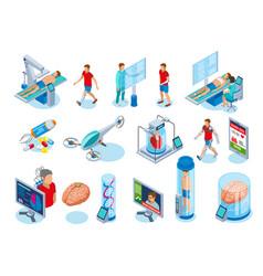 Futuristic medical equipment icons vector