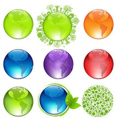 Glossy Globes Set vector